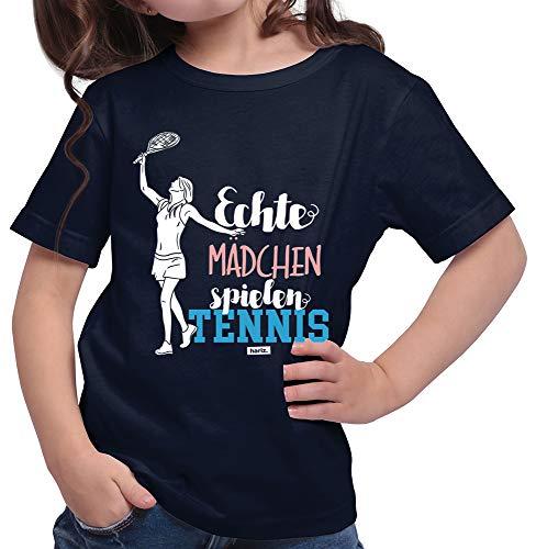 HARIZ  Mädchen T-Shirt Echte Mädchen Tennis Sport Inkl. Geschenk Karte Deep Navy Blau 152/12-13 Jahre -