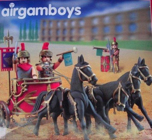 Maxi Pack Airgamboys (compatible aux marques courantes) romain voiture hippomobile cesar ben hur