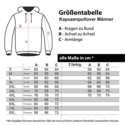 Männer und Herren Kapuzenpullover Frauenversteher (mit Rückendruck) Schwarz/Blau
