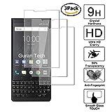 Guran [3 Pièces] Glass Protector pour Blackberry Key2 / Key2 Le Smartphone Screen Verre Trempé Protecteur d'écran Résistant aux éraflures