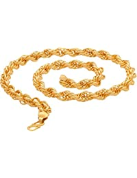 Chain For Men(Alloy Gold Plated Latest Men's Chain) - B074H1S2F8