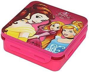 H M International Disney Princess Plastic Lunch Box Set, 3-Pieces, Multicolour (HMRPLB 253-PR)