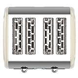 4 Scheiben Langschlitz Toaster mit 1500W, Aufwärm- / Auftaufunktion, inkl. Brötchenaufsatz Krümelschublade, Retro Design - 7