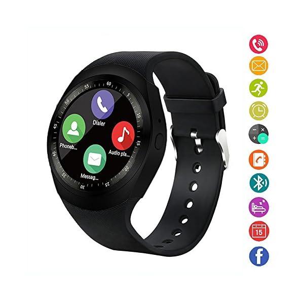 Reloj inteligente,gearlifee reloj con pantalla táctil Bluetooth Smartwatch con ranura para tarjeta SIM TF, podómetro… 1