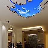 3D Afneembare Muursticker - Gat in de muur Der Blaue Himmel groot (70cm X 90cm)