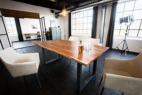 KAWOLA Esstisch massiv mit Baumkante Live Edge 160/180/200cm