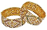 Shining Diva Gold Plated Traditional Ban...