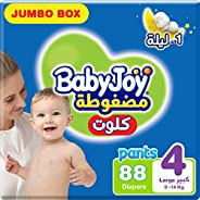 BabyJoy Culotte, Size 4, Large, 10-18 kg, Jumbo Box, 88 Diaper Pants
