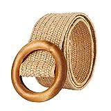 1 Stück Gewebter Gürtel Geflochtener Damen Rock Mantel Gürtel Elastischer Gürtel Damen Beige