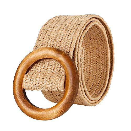 Rich-home Cinturón Tejido para Mujer Ropa Cinturón de Vestir Sin Per