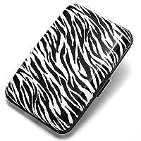 TOPBATHY Aluminum Portable Travel Identity ID Card Holder Blocking Wallet Safe Protection Card Holder Credit Wallet Pocket Case Box (Zebra Stripes)