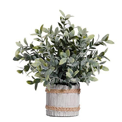 Weseedoo piante di plastica pot grigio pianta artificiale in vaso decorazione della cucina piante da esterno in vaso veranda decorazioni pasquali pianta in vaso al coperto piante home decor big