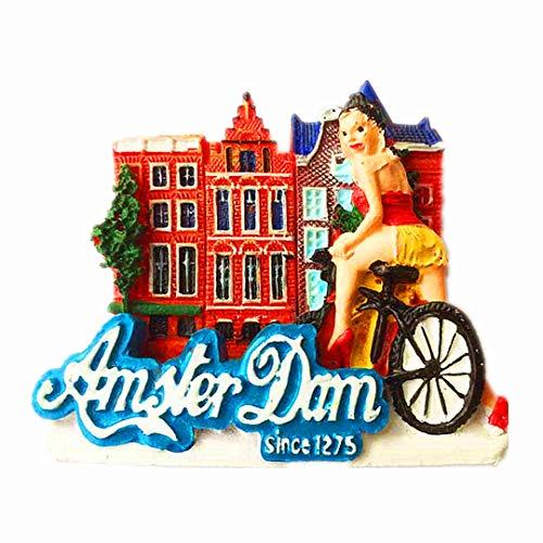 Amsterdam Niederlande 3D Kühlschrank Kühlschrankmagnet Travel City Souvenir Collection Küche Dekoration Whiteboard Aufkleber Harz