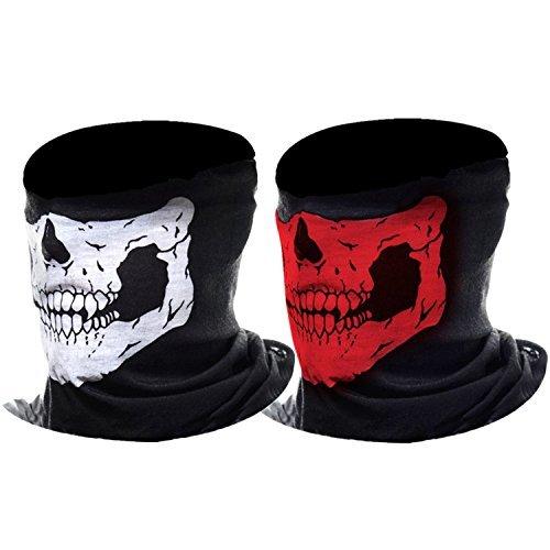 Máscara de Calavera Mascarilla Fantasma de Medio Cráneo de...