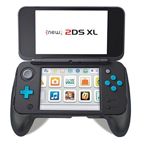 Komfort-Handgriff für New Nintendo 2DS XL, Anti-RutschProtective Abdeckungs-Controller-Griff für NEUES Nintendo 2DS LL (Schwarzes) Neue Nintendo Ds Xl