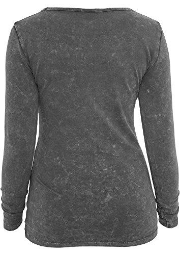 Urban Classics Ladies Stoned L/S Tee Dark Grey Grey