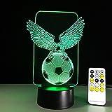 OOFAY LIGHT® 3D LED Nachtlicht Lampe Adler und Fußball optische Täuschung 7 Farbwechsel Touch Tisch Schreibtischlampen mit Acryl Flat & ABS Base & USB Kabel für super Geschenk