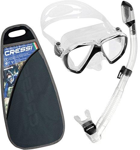Erwachsene Schnorchel Set,Taucherbrille mit Schnorchel (Cressi Tauchen Bag)