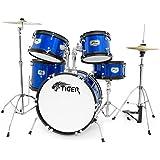 Tiger 5 Piece Junior Drum Kit - Blue