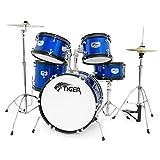 Tiger JDS14-BL 5-teiliges Junior Schlagzeugset - Blau