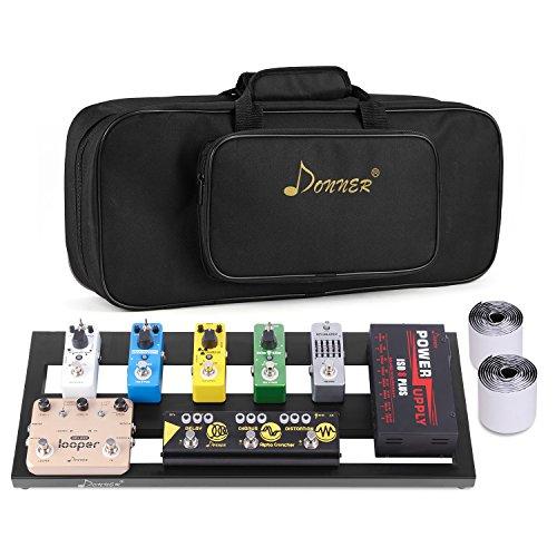 Donner Gitarre Pedal Board Case DB-2 Aluminium Pedalboard mit Tasche