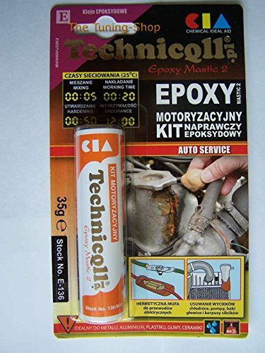 EPOXY PUTTY FOR METALS (steel aluminium) PLASTIC WOOD GLASS 35g HIGH QUALITY new by Technicqll -