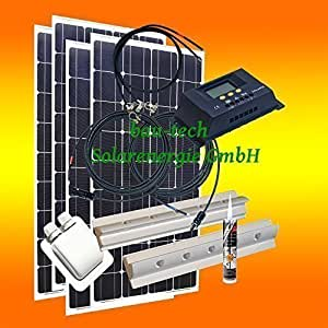 400 watt wohnmobil camping solaranlage 12 volt set pv elektronik. Black Bedroom Furniture Sets. Home Design Ideas