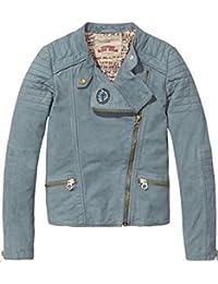 Scotch & Soda Mädchen Jacke Distressed Leather Biker Jacket