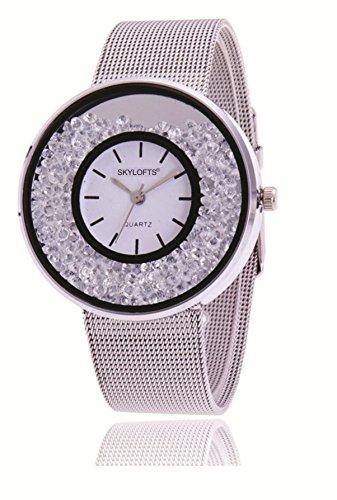 Skyloft Analog Silver Dial Women's Watch-F76