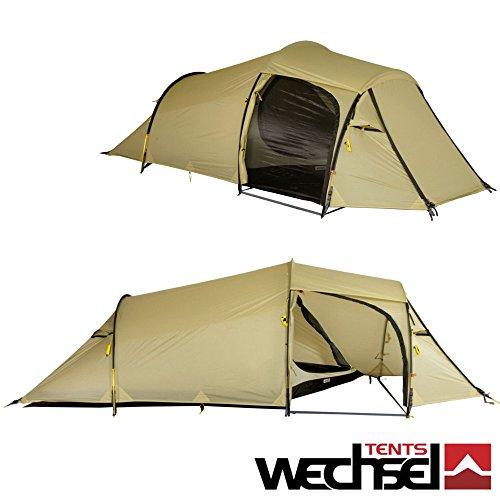 Wechsel tents Outpost2 Zero-G Line | Profi Tunnelzelt | sehr geräumiges 2 Personen Zelt | einzigartiger Innenzeltschnitt | mit Panormablick | Sand | XXL Liegefläche | 380 x 140 x 110 cm