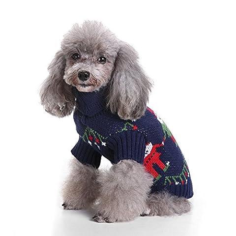Uni Meilleur de Noël pour chien en tricot Pull Manteau chaud Kintted mignon Pull Doggie Halloween Capuche Apparel