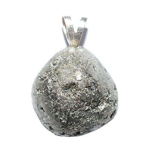 Colgante Pirita Natural Extra bélière plata