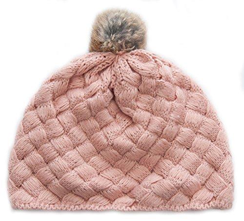 Kinder Herbst-Winter-Hut-warmer Hut Modisch gestrickter Hut, Rosa (Rosa Pailletten Cowgirl Hut)