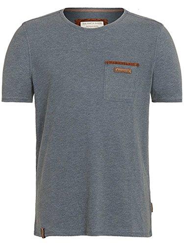 Naketano Male T-Shirt Suppenkasper V anthrazit washed