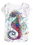 Photo de Doballa Femmes T-Shirt à Manches Courtes imprimé Seahorse par Doballa