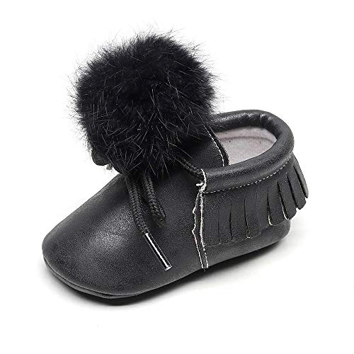 (Beikoard Neugeborene Volltonfarbe Tassel Bandage Haar Ball Kleinkind Schuhe Baby Schuhe Einzelne Schuhe Freizeitschuhe Warm Schuhe Rutschfest Schnee)