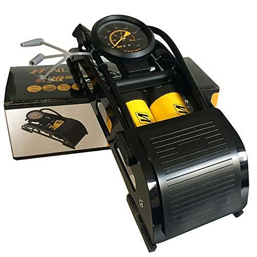 SLDAGe FußPumpe, Tragbarer Doppelzylinder-ReifenfüLler Mit Genauem Manometer FüR FahrräDer MotorräDer Autos BäLle Und Andere Schlauchboote -