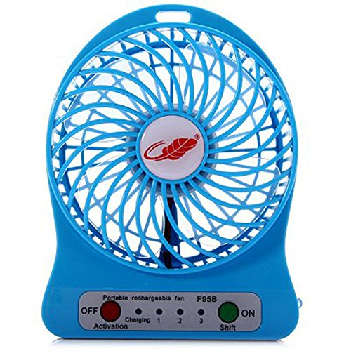 Portable Rechargeable Battery USB Mini Fan (Colours May Vary) 3 Adjustable Speed Levels by Premsons