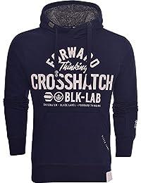 Crosshatch Mens Designer Casual Hooded Logo Top Hoody Fleece Sweatshirt Jacket