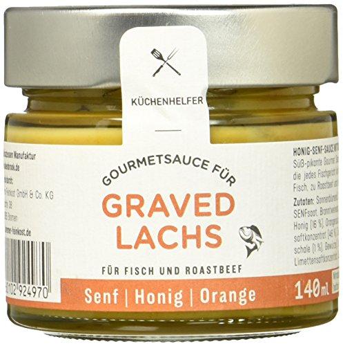 Küchenhelfer Graved Lachs Gourmet-Honig-Senf zu Fischspezialitäten, 2er Pack (2 x 210 ml)
