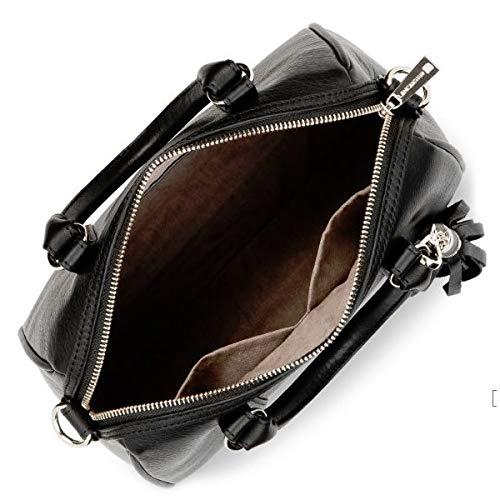 Sac à main cuir Lancaster noir de la collection Ana
