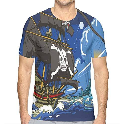 129b69bc23ba2 MIOMIOK 3D Printed T Shirts for Mens,Fantastic Colorful Fun Design Cute  Magic Unicorn Speech Bubble Stars and Donut XXL