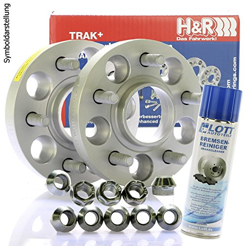 H&R DRM Spurplatten Spurverbreiterung Distanzscheibe 5x108 56mm // 2x28mm + Bremsenreiniger