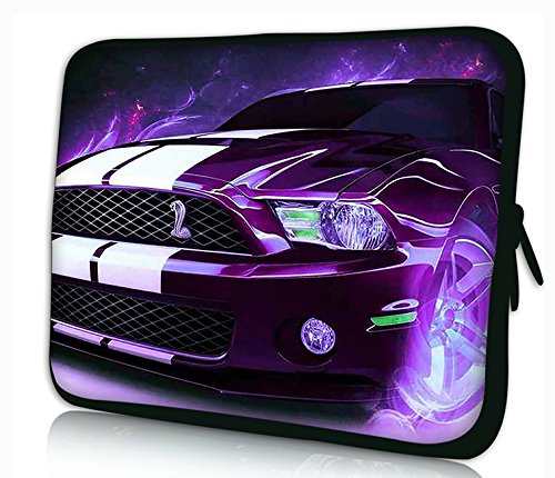 "Laptoptasche Notebooktasche 15"" - 15.6"" zoll Fall Neopren für Notebooks Dell HP Macbook Samsung Apple Toshiba*purple car*"