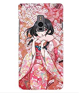 ColourCraft Beautiful Girl Design Back Case Cover for ONEPLUS TWO