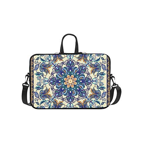 Bunte Blumen Flores Tulpen verlässt Muster Aktenkoffer Laptoptasche Messenger Schulter Arbeitstasche Crossbody Handtasche für Geschäftsreisen -