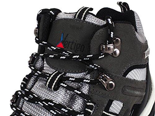 Alpes vertigo - Mitri anthracite/gris - Chaussures marche randonnées Gris Anthracite foncé