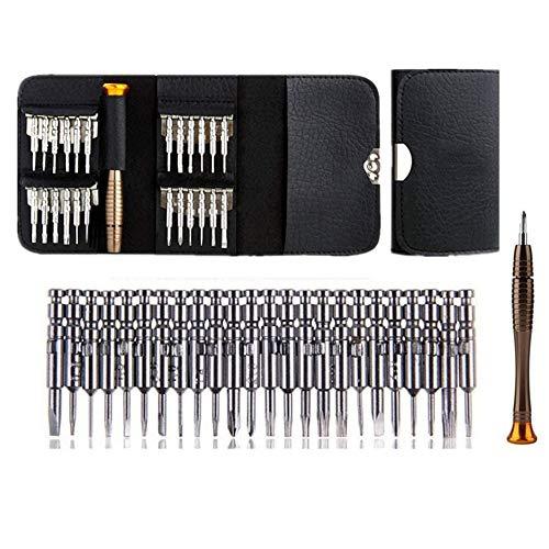 yzcx Mini endurecida Destornillador Set 25piezas Precisión minischr aubenziehern magnético tisier Bar Juego de herramientas para reloj, gafas, iPhone, MacBook, PC, Laptop