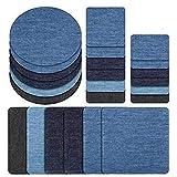 Shoppy Star 1 Stück Jeansstoff Aufkleber für Kleidung Jacke Jacke Aufnäher Bügelbild für Kleidung Kleber Pullover Hemd Ellenbogen Aufkleber Multi Farbe: D1 Schwarz