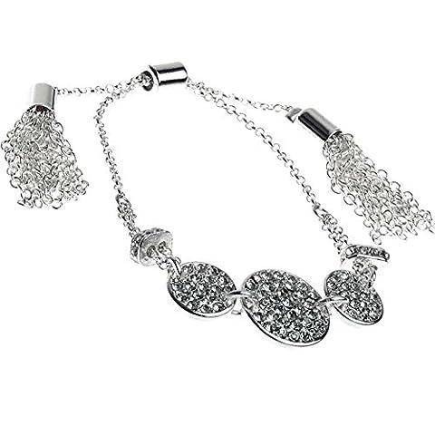 Bracelet avec cristal et argent